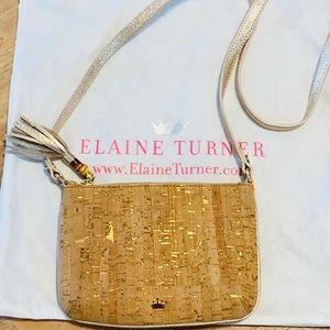 Elaine Turner Cork shoulder bag